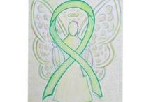 Lime Green Awareness Ribbon Support and Art Gifts / A lime green awareness ribbon color means support for Lymphoma, Non-Hodgkins Lymphoma, Lyme Disease, Mental Health, Muscular Dystrophy, Sandhoff Disease, Ivemark Syndrome, Support for Adoptees' Rights for Open Adoption Records. Let this lime green awareness ribbon support their awareness causes!
