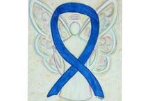 Blue Awareness Ribbon Meaning and Art Gifts / The blue awareness ribbon color means support for ALS, Free Speech, Foster Care Awareness, Colon Cancer, Child Abuse Awareness, Drunk Driving Awareness, Education, Arthritis, Huntington's Disease, Human Trafficking, Stop Bullying, and Save the Music to name a few.  Let the blue awareness ribbon help support awareness for these causes!