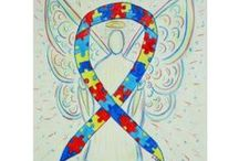 Puzzle Piece Autism Spectrum Disorder Awareness Ribbon Support & Art ASD Gifts / The puzzle piece awareness ribbons is for Autism.  It is a group of developmental brain disorders, collectively called autism spectrum disorder (ASD).   ASD is broken out into one of five disorders, sometimes called pervasive developmental disorders (PDDs), as ASD: -Autistic disorder (classic autism) -Asperger's disorder (Asperger syndrome) -Pervasive developmental disorder not otherwise specified (PDD-NOS) -Rett's disorder (Rett syndrome)  -Childhood disintegrative disorder (CDD).