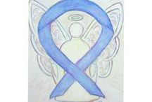 Periwinkle Awareness Ribbon Support and Art Gifts / The periwinkle awareness ribbon color means support for Acid Reflux, Eating Disorders (Anorexia Nervosa & Bulimia Nervosa), Eosinophilic Disorders, Esophageal Cancer, Gastric Cancer, Gastroesophageal Reflux (GERD), Irritable Bowel Syndrome (IBS), Pulmonary Hypertension, Small Intestine Cancer, and Stomach Cancer.  Let this periwinkle ribbon help bring awareness to these causes!