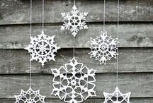 Copos de nieve ganchillo