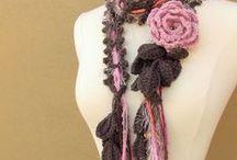 bufandas, chales, estolas crochet