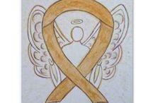 Appendix Cancer Amber Awareness Ribbon Support and Art Gifts / Appendix Cancer uses an amber ribbon for its cause awareness.  Let this amber awareness ribbon help support appendix cancer awareness!