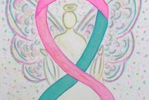 Teal and Pink Awareness Ribbon and Gifts / Hereditary Breast and Ovarian Cancer syndrome uses a teal and pink ribbon for awareness.  Breast cancer uses a pink ribbon.   Ovarian cancer uses a teal ribbon.  This ribbon combines the two colors in promoting awareness for women who are risk for both cancers given the probability risk in their genes.