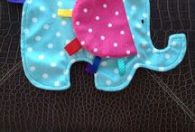 Tag Toys / Soft and cuddly tag toys for babies.