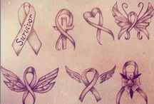Tattoo Awareness Ribbon Designs and Ideas / Ideas for colors and designs for tattoos incorporating awareness ribbons.  Art includes using inspirational word, butterflies, hearts, names, and other tattoo awareness ribbon design photos or drawings/ sketch ideas.