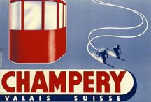 Vintage Ski Posters / I'm a big fan of vintage ski posters, and I intend to collect quite a few of them while living in Switzerland.  Join the movement.  / by Pete Blackshaw