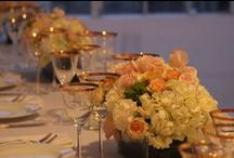 Low Centerpieces by Bride & Blossom / Low centerpieces create a sense of intimacy and simplicity. Going low is generally better on the budget and is creates a less formal ambiance. Guests will also love them since their view won't be obstructed. / by Bride & Blossom