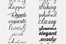 Fonts I luurve