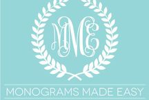 Crafts: Monograms / by Cindy Simpson
