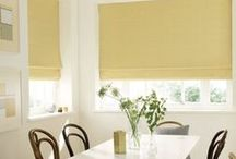 Roman blinds and Curtains / Roman blinds and curtains can bring a classic luxurious feel to any room. Whether you're looking for sophistication in your living room or a statement in your kitchen, there are a lot of fabrics to choose from, all available in made-to-measure.