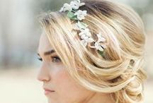 Lovely Wedding Hair / Braids, updos, sparkling touches and beautiful fresh flowers for brides and bridesmaids.