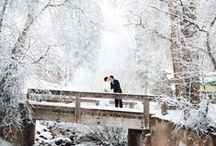 Winter Weddings / Beautiful winter wedding dresses, wedding flowers and ideas for ceremony decor and details.