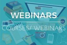 Webinars + Online Course Tips / Collections of tips from Rock star entrepreneurs on how to create webinars & online courses that succeed!