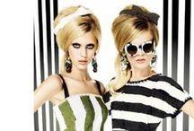 Gafas de sol en pasarelas de moda. Sunglasses on the catwalk