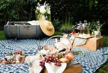 Let's have a Picnic / Let's enjoy the outdoors more by dining al fresco! Don't forget to bring the wine!