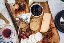 Cheese & Charcuterie / Find inspiration to create pretty and scrumptious snack boards... Wine is quite tasty alongside these spreads!