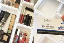 Makeup Storage Ideas / Storage ideas for makeup and beauty