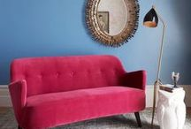 Cosy Furniture / Who doesn't want cosy furniture? From the softest chairs and super smooth velvet sofas, to stools, tables and shelving, here you'll find all the furniture you need to furnish your cosy home.