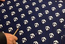 Anchor Blue Print  ® / The new pattern ANCHOR emerged as an alternative to the traditional blueprint designs and as an effort to support the blue print craft.The pattern is printed by hand on cotton canvas, which is then, again by hand, dyed in indigo. #anchorcollection #myoriginal