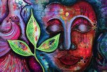 Pamela Cisneros Paintings / Intuitive paintings by American artist Pamela Cisneros