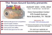 Texas Gourd Society Events / The Texas Gourd Society presents the Lone Star Gourd Festival at the New Braunfels Civic Convention Center on August 15-17, 2014.   Come see the national gourd art competition, take classes, shop for one of a kind gourd art and supplies.