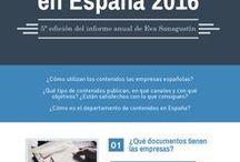 Estado de los contenidos en España / Infografías creadas en base a los informes anuales sobre el uso de los contenidos en España.