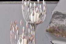 Silber Stars / Elegante Kleinmöbel aus Metall in Antiksilber.