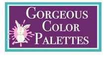 Gorgeous Color Palettes / It's not difficult to find stunning color palettes to inspired you- just stopy by your local paint store and let them do the work!