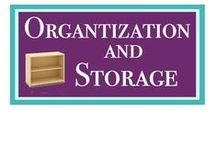 Organization and Storage / Don't you think that life runs just a bit more smoothly when things are where they belong and you know where they are? It's so true in my life and I've found some great solutions to share!