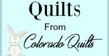 Beautiful Quilts from Colorado Quilts / Beautiful, soft quilts handmade by me with care in a variety of colors and style.