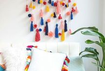 Pom-poms and tassels