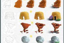 Tutorials / Tutorials and Step by Step Process Photoshop, Drawing, Illustrator Tutorials, Digital Painting