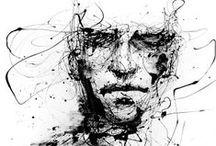 F O L I O - pen + ink / wash / by teaching artist