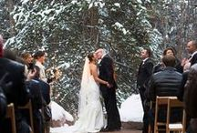 Winter Weddings / Who needs a summer wedding? Here's some inspiration to create a beautiful winter wonderland for your special day...