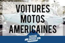 Voitures et motos américaines / Les voitures américaines (Cadillac, Chevrolet, Pontiac, Mustang, Buick, etc.) et les motos (Harley-Davidson) sont des symboles que les Etats-Unis véhiculent depuis des années ! Sélection des plus beaux modèles de ces engins motorisés 100% made in USA !