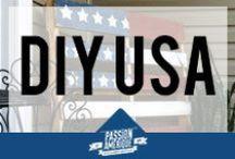 DIY USA / Tout le DIY sur le thème des USA... Décoration, meubles, accessoires aux couleurs de la bannière étoilée, emblème des Etats-Unis !