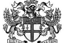 Heraldry, heraldic, medieval decorations