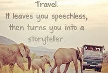 Travel / We travel not to escape life, but for life not to escape us.