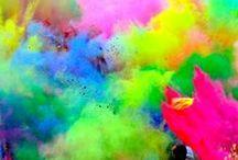 Holi celebration, India / Indians celebrate Holi to mark the beginning of spring