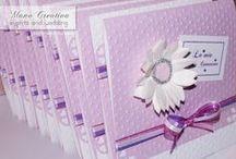 Inviti per la Prima Comunione di ASIA / lavanda | bianco | fucsia | violetta