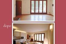 Before and after / I lavori di home staging e restyling che ho effettuato negli appartamenti che vendo e affitto