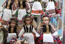 Folclore costume dolls - Krojované bábiky / My own and others authentic folclore costume dolls.