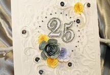 Nozze d'Argento per ORNELLA & QUINTINO /  Per Ornella e Quintino, che sono tra l'altro i miei zii, ho realizzato su commissione di mia cuginetta, ...loro figlia :) , un biglietto, coordinato con busta, per festeggiare i loro 25 anni di matrimonio.  Auguri Zio e Zia!!!