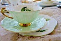 Teacups and Saucers - Vintage and Antique China / Most can be purchased on Etsy.