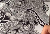 Desenhos / Zentangle