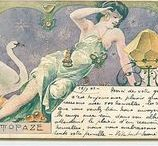 Postcards from past time -  Womans Art Nouveau