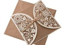 Laser Cut Stationery / A little extra details can make all the difference! We love the rustic wedding look and eco friendly wedding stationery. Take a look at our whole collection for ideas and wedding inspiration.