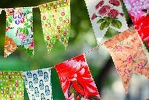 Beautiful Bunting / We love the rustic wedding look and eco friendly wedding stationery. Take a look at our whole collection for ideas and wedding inspiration. Bunting can come in all shapes and sizes, here are some of our favourite designs.