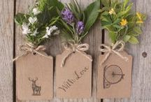 Tags, Labels and Stickers / A wonderful collection of tags and labels for weddings and other celebrations. We love the rustic wedding look and eco friendly wedding stationery. Take a look at our whole collection for ideas and wedding inspiration.